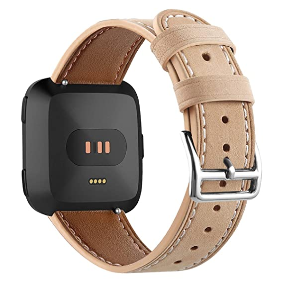 for Fitbit Versa Bands for Women Smartwatch Wrist Strap Watch Band Genuine Leather Watch Straps