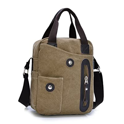 SUNROLAN Canvas Hand Bags/Shoulder Bag/Messenger Case/Crossbody Bags Fit for Air/Macbook Air 13 Inch/Kindle/Ereader