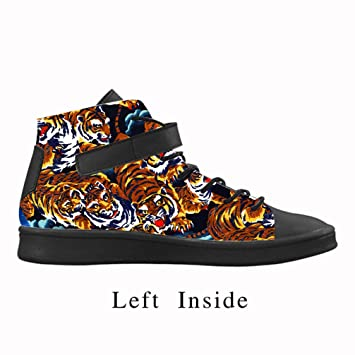 f98a5453ec65 Cheese Christmas Decorations Tiger Personalized Sneaker Shoes Men s Round  Round Lyra