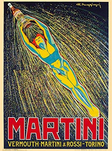 MAGNET Martini & Rossi Torino Italy Italian Vintage Travel Advertisement Magnet Print