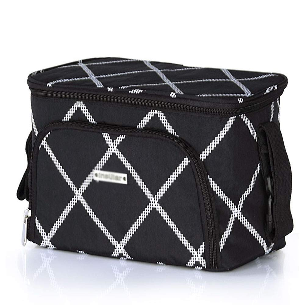 Stroller Organizer Universal Stroller Organizer Bag with Deep Cup Holders xtra-Large Storage Space for Diapers, Wipes, Food, Toys Parents Stroller Organizer Bag ( Color : Black , Size : Free size )