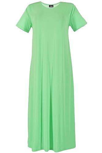 Jostar Women's Stretchy Long Dress Short Sleeve