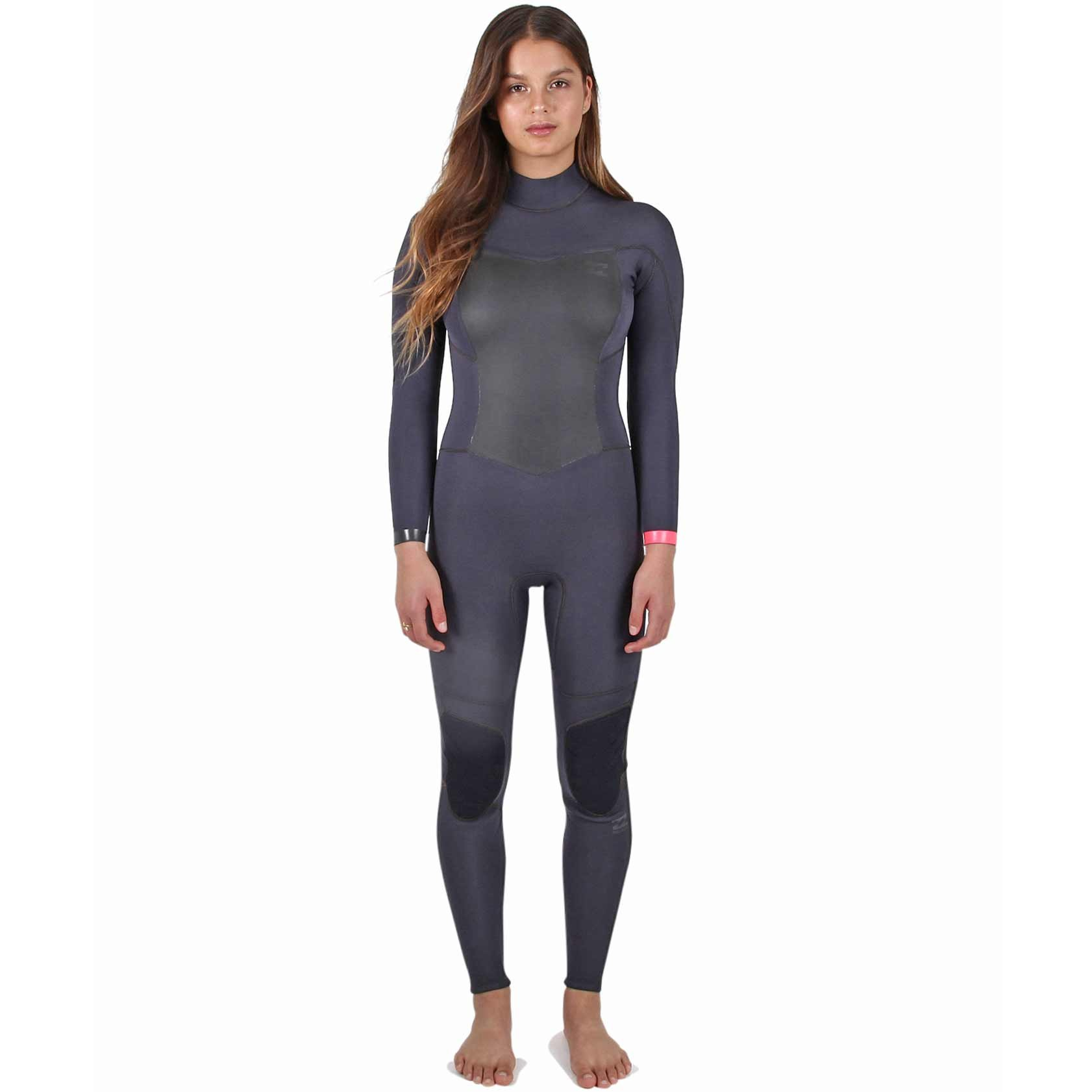 Billabong Womens 403 Synergy Bz Wetsuit, Black Sands, 6
