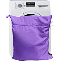 Harrison Howard Pet Washing Bag Wash Dog Horse Hair Laundry Bag for Rug Sheet Boots Pets Laundry Helper -Light Purple