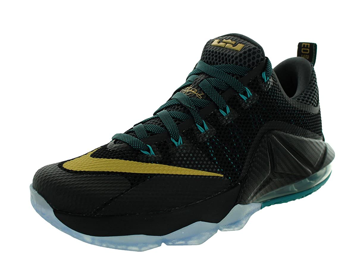 Nike Mens Lebron XII Low 黒/Metallic ゴールド-Anthracite Synthetic Size 9.5