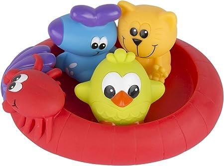 Comprar Playgro Mini-patos para el baño, 4 Piezas, Totalmente sellados, Resistentes al agua y la suciedad, Ideales para el baño del bebé, A partir de 6 meses, Libres de BPA, Colorido, 40213