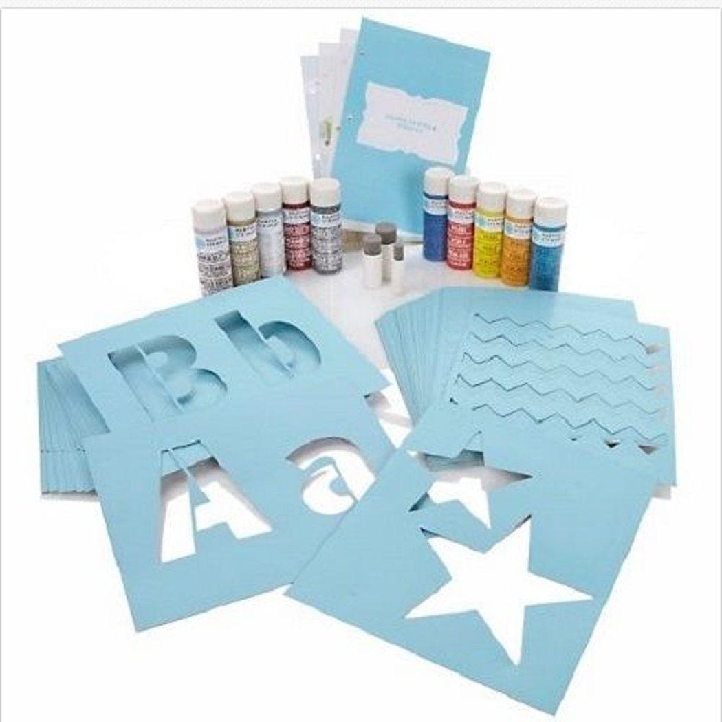 Martha Stewart Crafts Paints Coarse Glitter Stencil Tools Kit