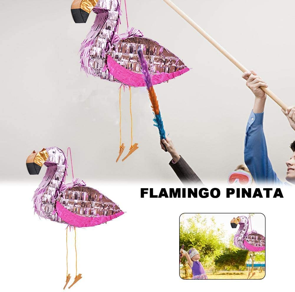 xiangpian183 Flamingo Pinata for Birthday Party Game and Activity