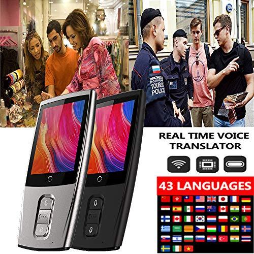 Ecurson 2.4'' Smart Instant Smart Voice Translator Real Time WiFi 43 Languages Speech Translation Machine (Black) by Ecurson (Image #1)