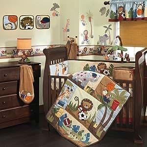 Amazon Com Lambs Amp Ivy Team Safari 9 Piece Crib Bedding