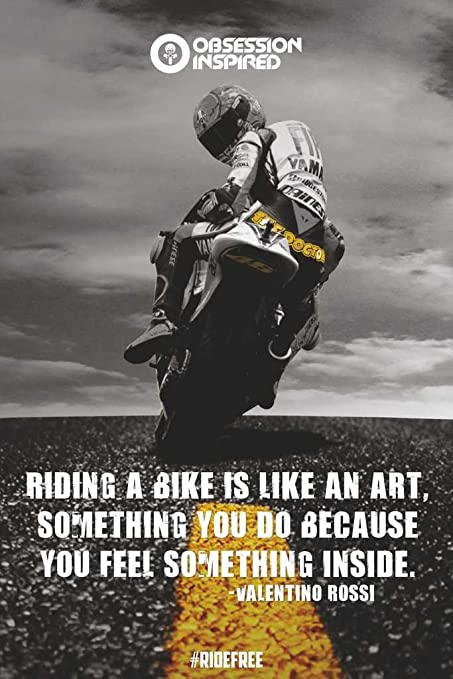Obsession Inspired Valentino Rossi Wall Posters With Motivational