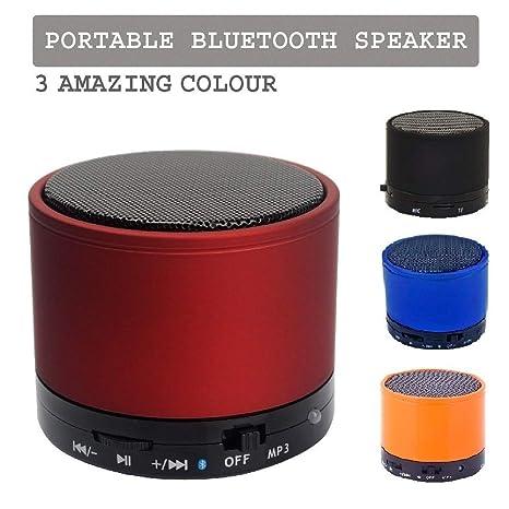 Realmax® - Minialtavoz negro inalámbrico Bluetooth, portátil y recargable,
