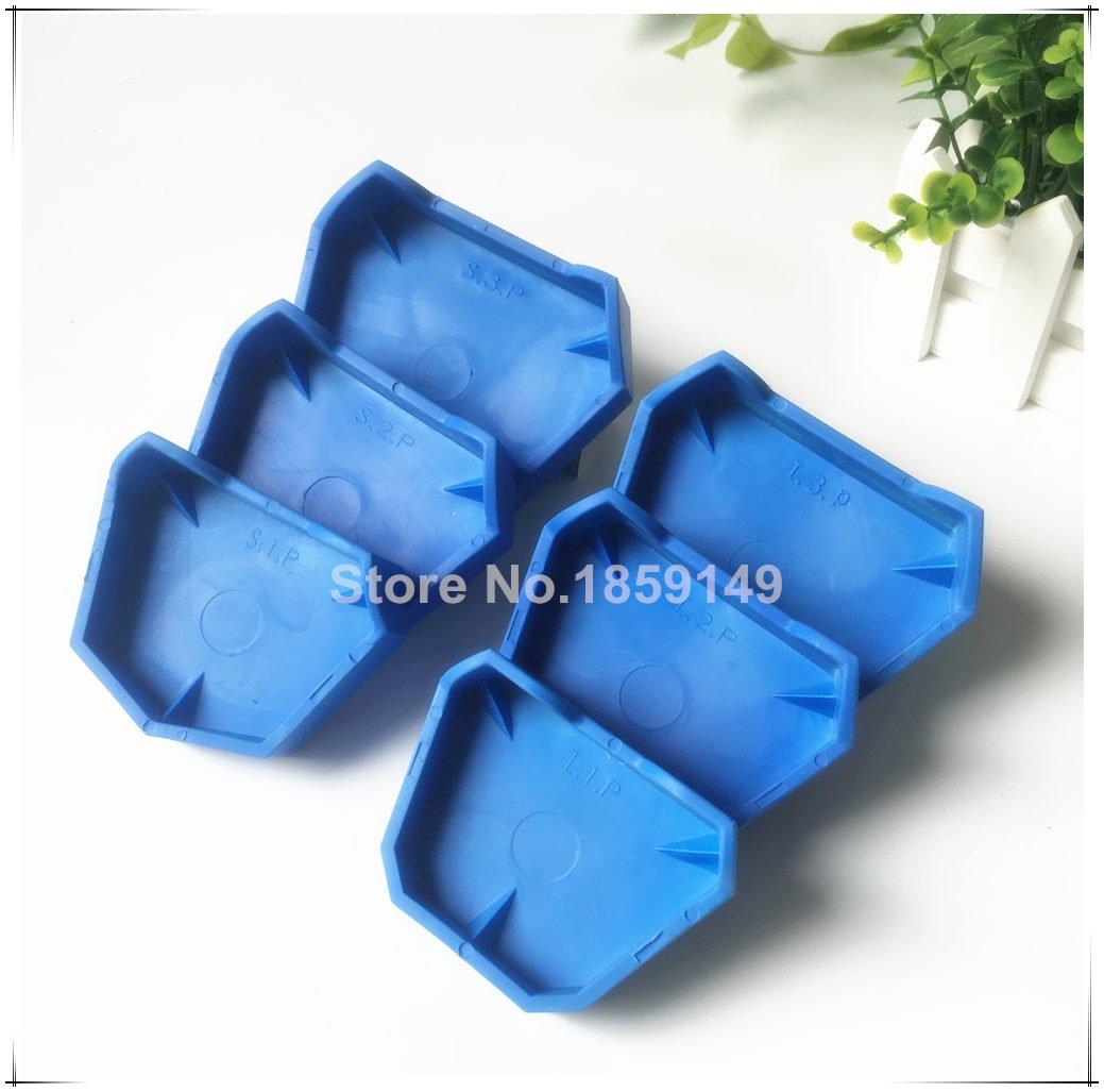 Dental Lab Model Former Base Molds Blue Color (1 Pack/6Pcs)