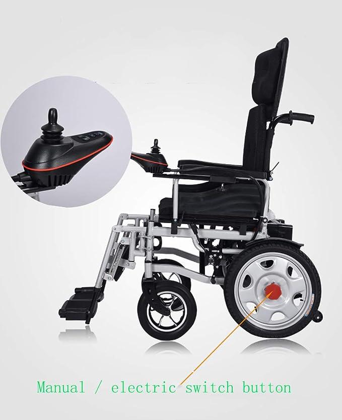 Amazon.com: L&QQ - Silla de ruedas eléctrica plegable ...