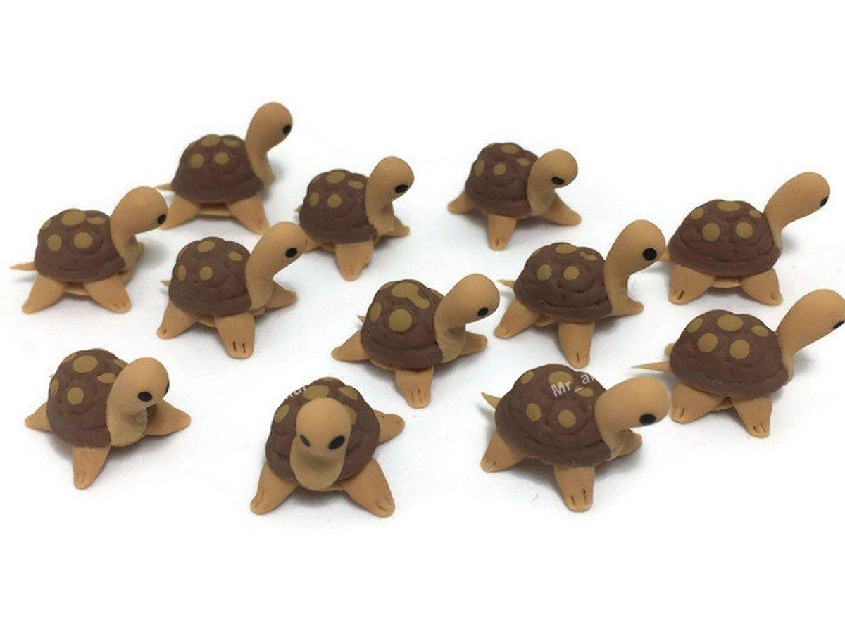 Mr_air_thai_Miniature Lot of 12 Miniature Turtle Fairy Garden Supplies Animal Figurine Furniture Dollhouse GD#003