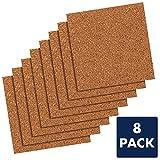 Quartet-Cork-Tiles-Cork-Board-12-x-12-Corkboard-Wall-Bulletin-Boards-Natural-8-Pack-108