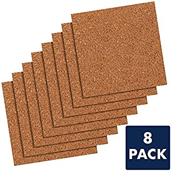 "Quartet Cork Tiles, Cork Board, 12"" x 12"", Corkboard, Wall Bulletin Boards, Natural, 8 Pack (108)"