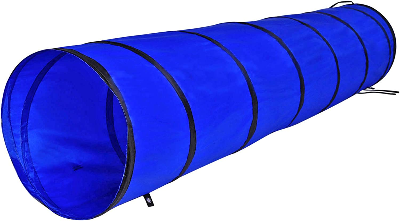 dibea Túnel para perros túnel de agilidad para mascotas (S) 200x40 cm color Azul