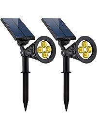 urpower solar lights 2in1 solar powered 4 led adjustable spotlight wall light