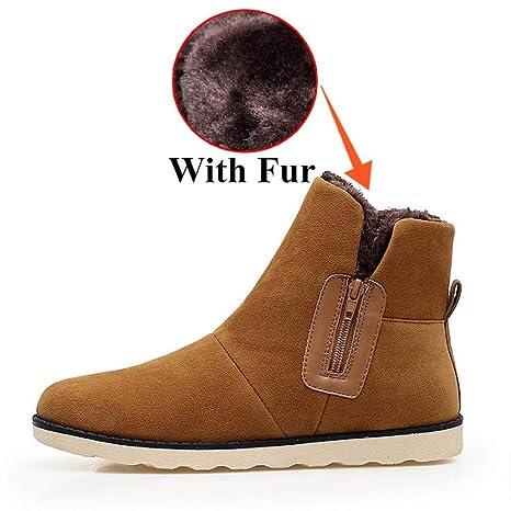 FHCGMX Flock Zapatos Masculinos para Hombre Invierno de Invierno con Botas para la Nieve Zapatillas Antideslizantes