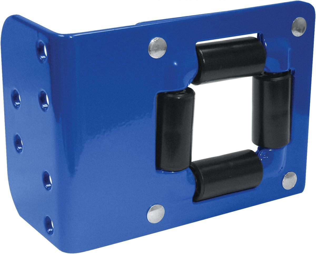 Coxreels 4RB Heavy Gauge Powder Coated Steel 4-Way Roller Bracket, 1/4-3/4 Size, Blue