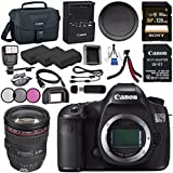 Canon EOS 5DS-R 5DSR DSLR Camera + Canon EF 24-105mm f/4L IS USM Lens 0344B002 + LPE-6 Lithium Ion Battery + Sony 128GB SDXC Card + Canon W-E1 Wi-Fi Adapter + 72mm 3 Piece Filter Kit Bundle
