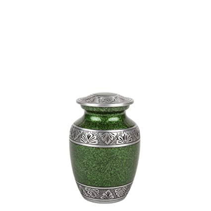 Perfect Memorials Small Green Lively Leaves Cremation Urn