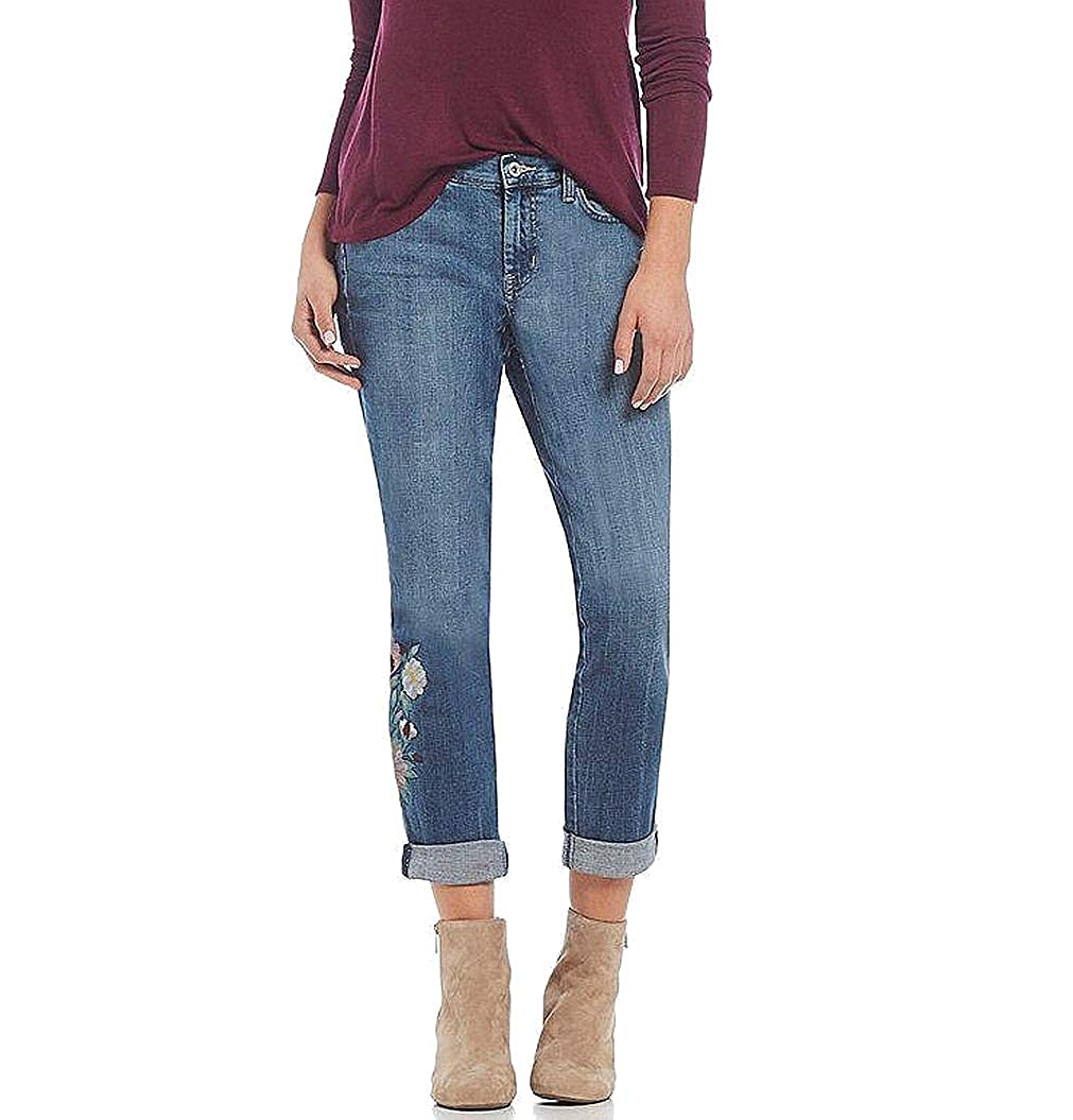 bluee Jessica Simpson Floral Embroidered Bestfriend Jeans