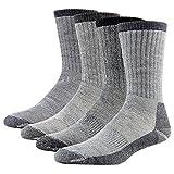 Merino Wool Hiking Socks, RTZAT 4 Pairs Unisex Winter Thermal Camping