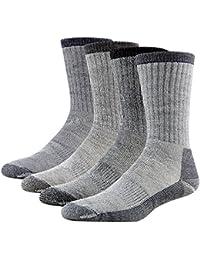 Merino Wool Hiking Socks, RTZAT Unisex Winter Thermal Camping, 1/2/4 Pairs