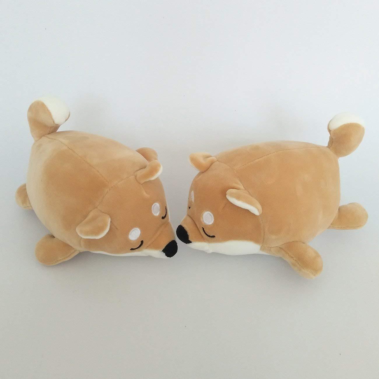 Elviray Cotton Lying Plush Stuffed Dog Large Toy Shiba Inu Dog Doll Duvet Doll Lovely Animal Children Birthday Gift Corgi Plush Pillow