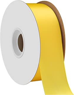 product image for Offray Single Face Satin Craft 1-1/2-Inch by 50-Yard Ribbon Spool, Lemon