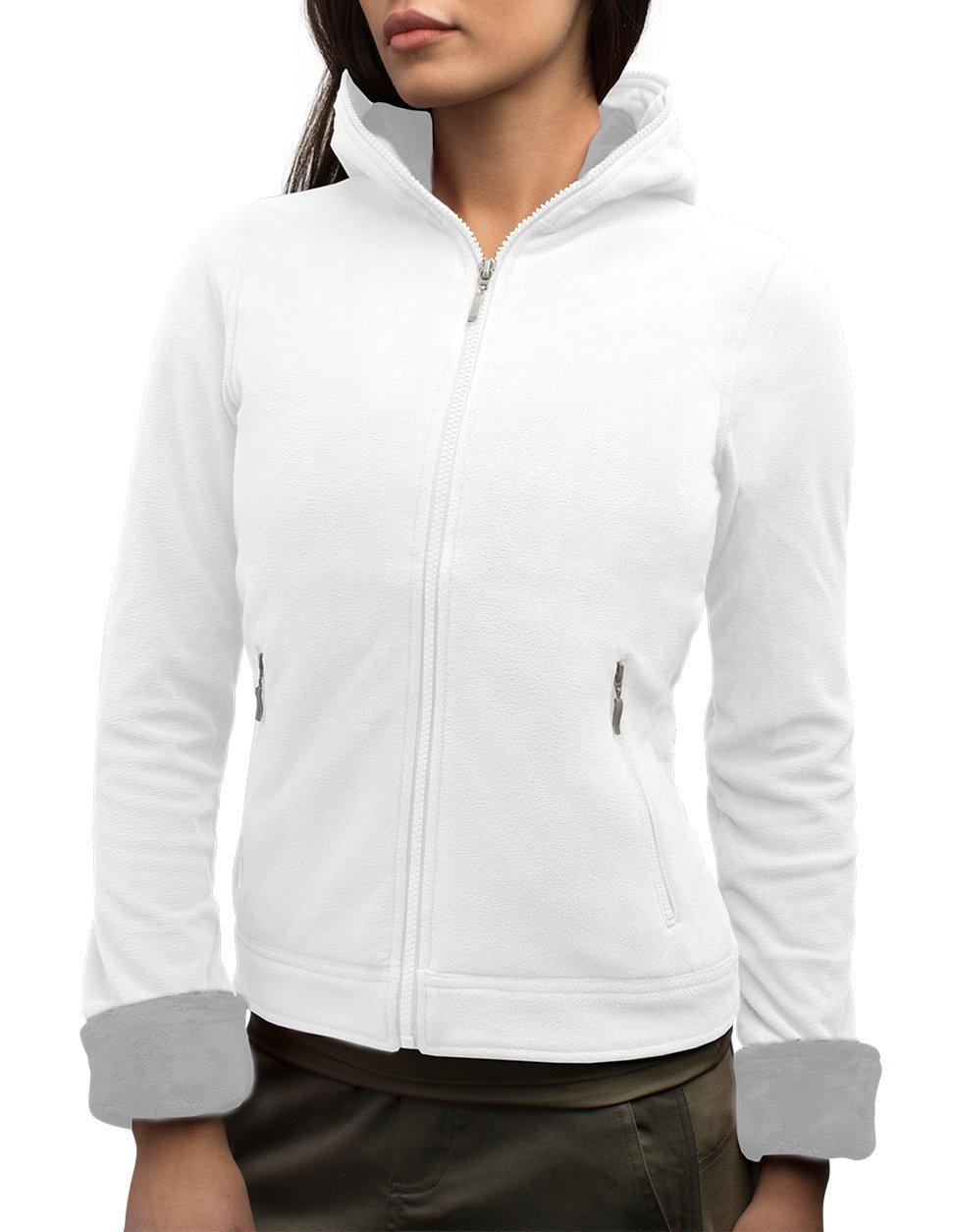 SCOTTeVEST Chloe Hoodie - 14 Pockets - Travel Clothing, Pickpocket Proof (M2, Ice)
