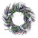 Ten-Waterloo-24-Inch-Lavender-and-Lilac-Spring-Mixed-Flower-Wreath-on-Natural-Twig-Base-Artificial-Spring-Wreath