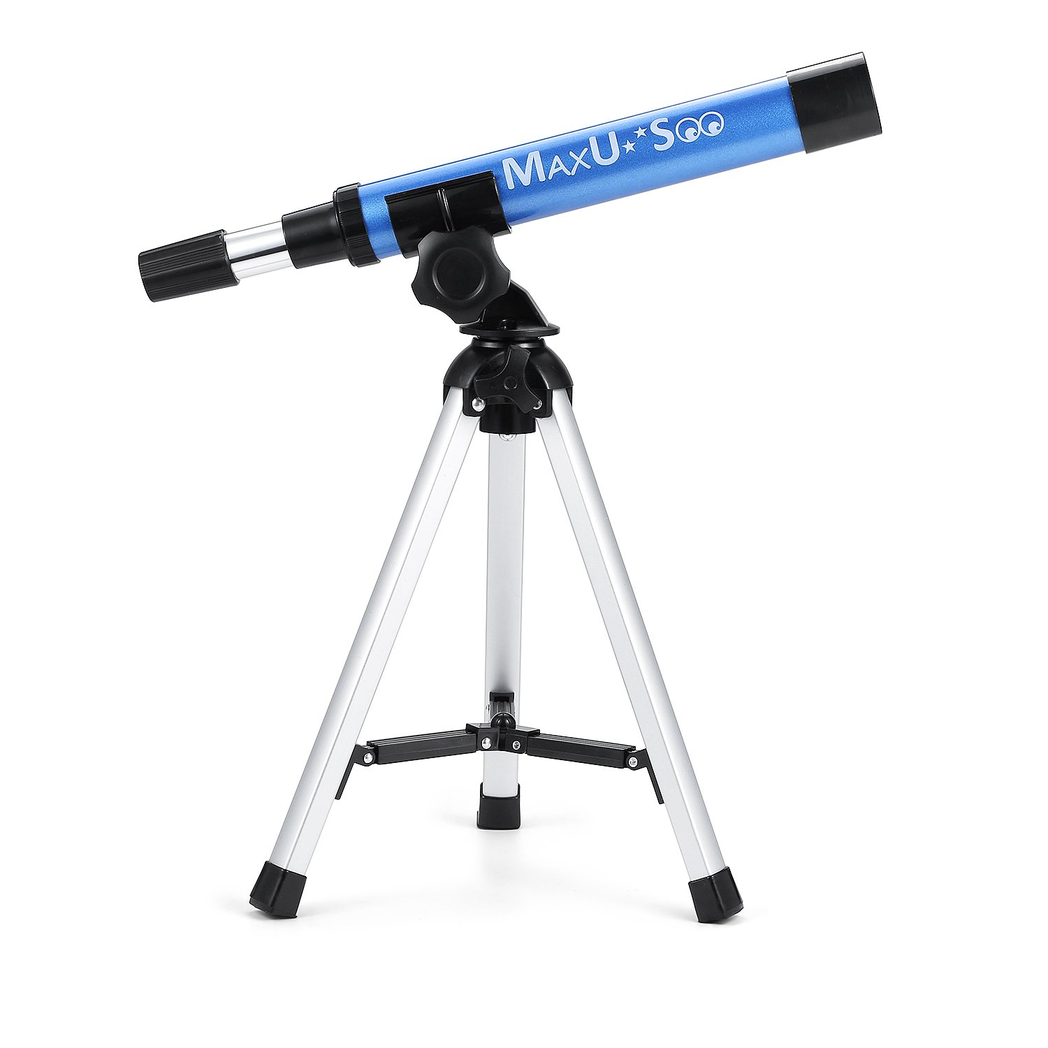 MaxUSee Refractor Telescope for Kids, Portable Telescope with 30X Power for Beginner, Travel Scope Aperture 30mm, Small Telescope with Tabletop Tripod by MaxUSee