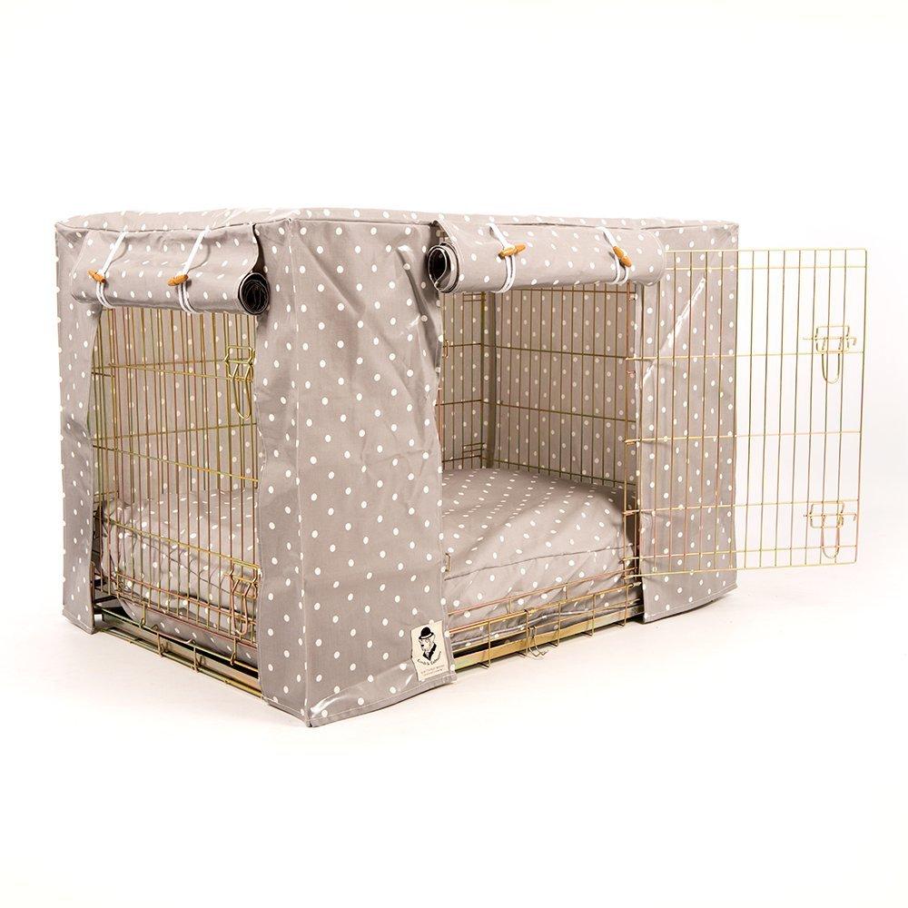 Couverture universelle de cage pour chien ou cage Clarke & Clarke en toile cirée grise par Lords & Labradors L&L