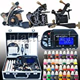 Large Tattoo Kit 3 Machine Guns TOP Power Needle Tip 40 Color 8ml/bottle MGT-11