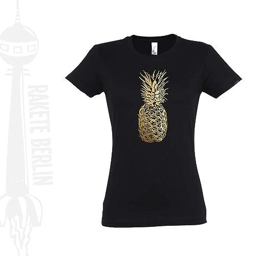 Damen T Shirt 'Ananas': : Handmade