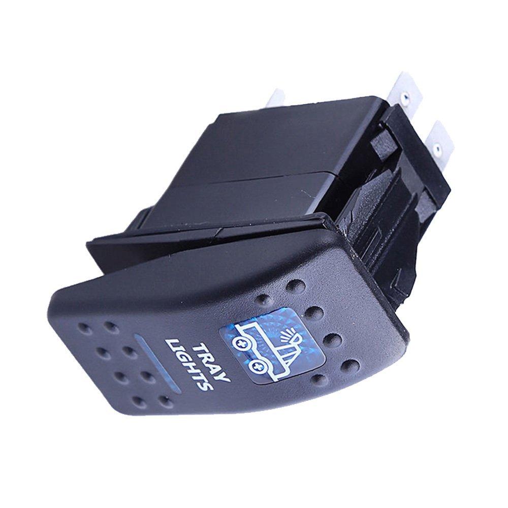 Mintice/™ veh/ículo de 12V 20A LED azul interruptor de palanca basculante luz 5 Pines Roof Light