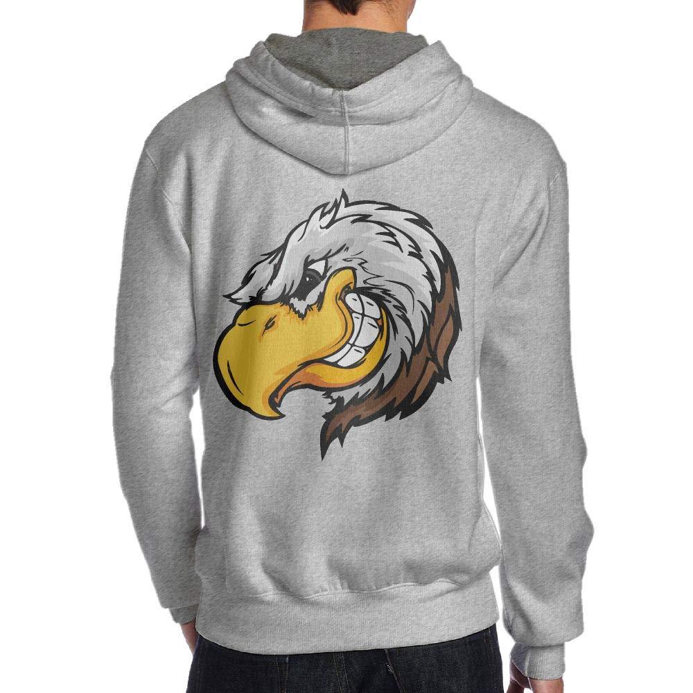 Bald Eagle Falcon Back Print Long-Sleeved Hoody for Men