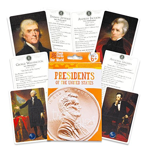 Presidents of the United States Flash Cards - 36 Count (American President Flash Cards)