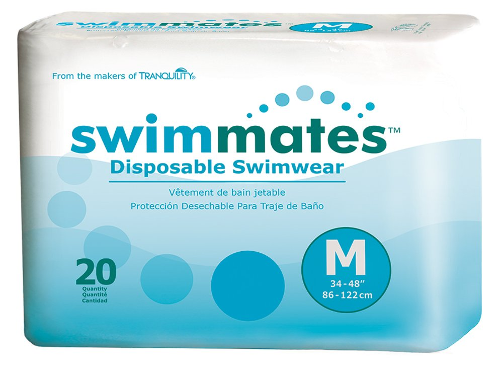 Swimmates Disposable Swim Diapers, Medium, Pack/20