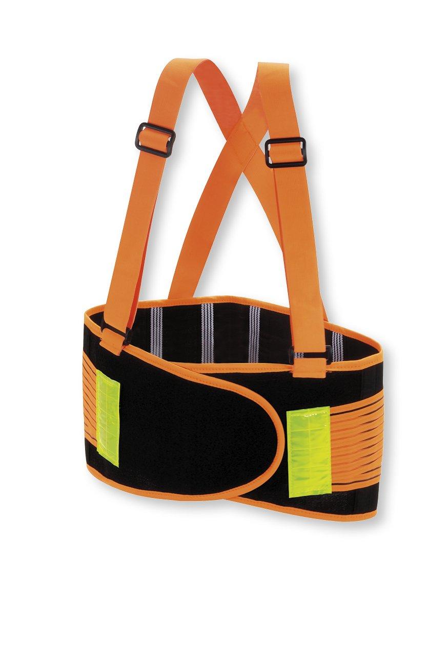 Valeo Industrial VHO8 High Visibility Back Support Lifting Belt, VI9353, Orange, 2XL by Valeo Industrial (Image #1)