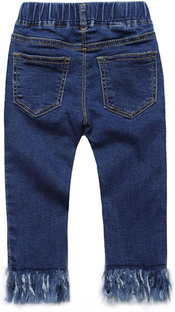 Coodebear Baby Girls/¡ Denim Fringed Bottom Casual Jeans Pants