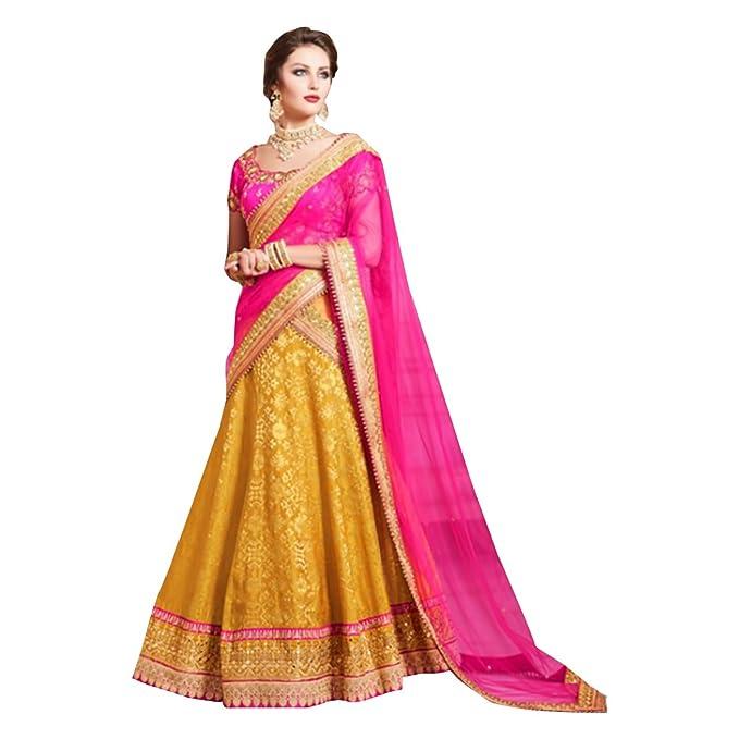 5ba44487e4 Amazon.com: Bridal Bollywood Chaniya Choli Dupatta Party Wedding Wear Women  Ceremony Festival Lehenga Black Friday Sale 389: Clothing