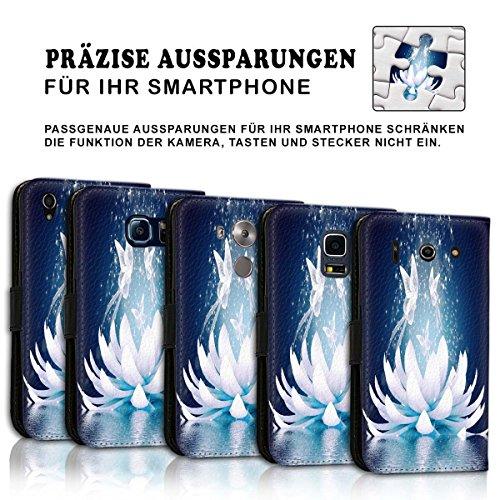 Wallet Book Style Flip Handy Tasche Case Schutz Hülle Schale Motiv Etui für Apple iPhone 6 Plus / 6S Plus - Design Flip MVD429