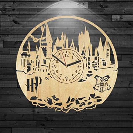 Amazon.com: Harry Potter reloj de madera, reloj de pared ...