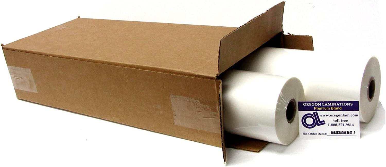 "1.5 mil 18"" x 500' Clear School Laminating Film 2 Pack - 1"" Core w/ Laminator Webbing Card 61lU2BYc0hSLSL1500_"