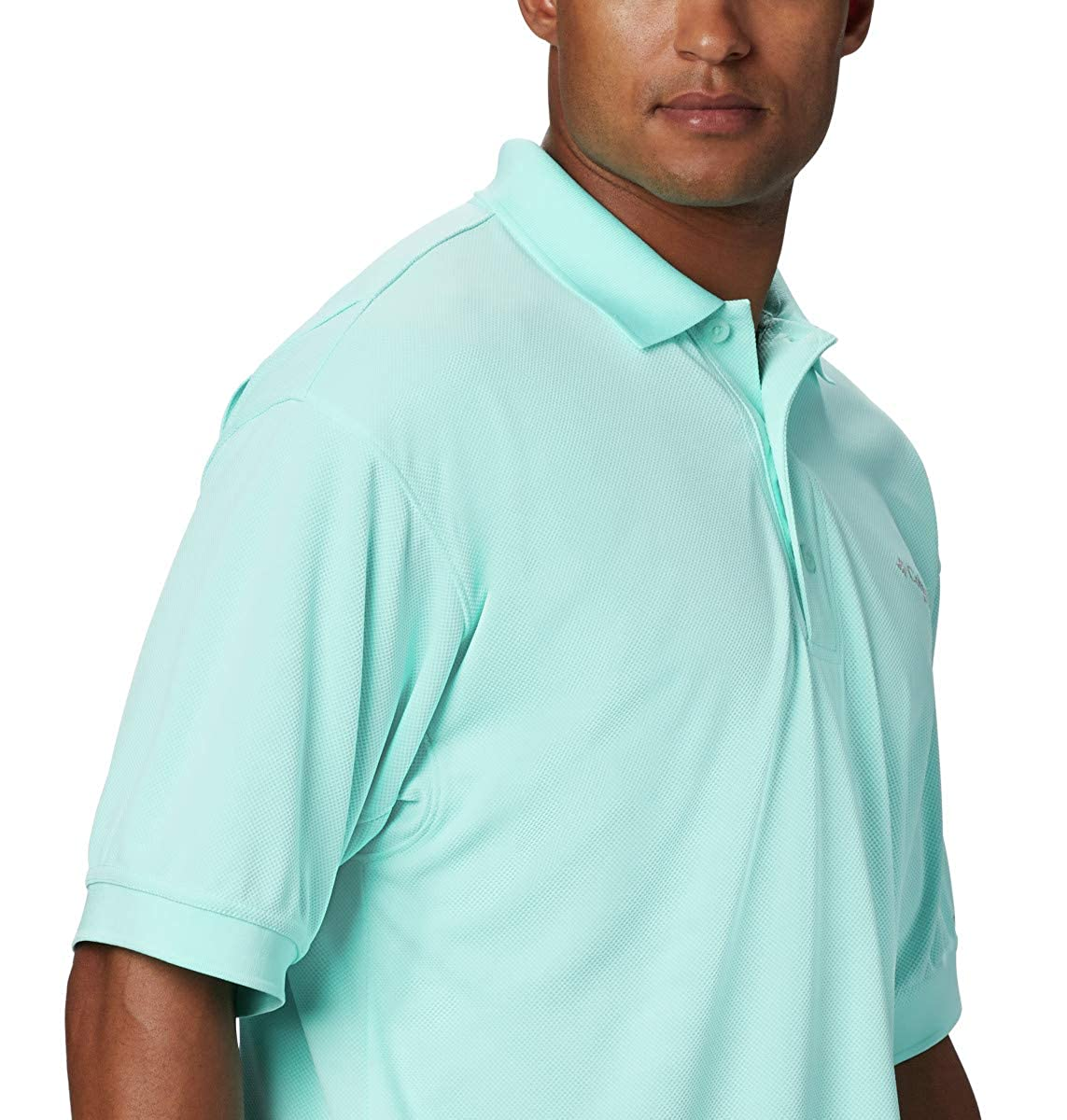Columbia Mens PFG Perfect Cast Polo Shirt UV Protection Breathable