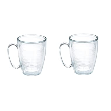 Tervis Tumbler Clear 16 oz Mug With Handle, Set Of 2